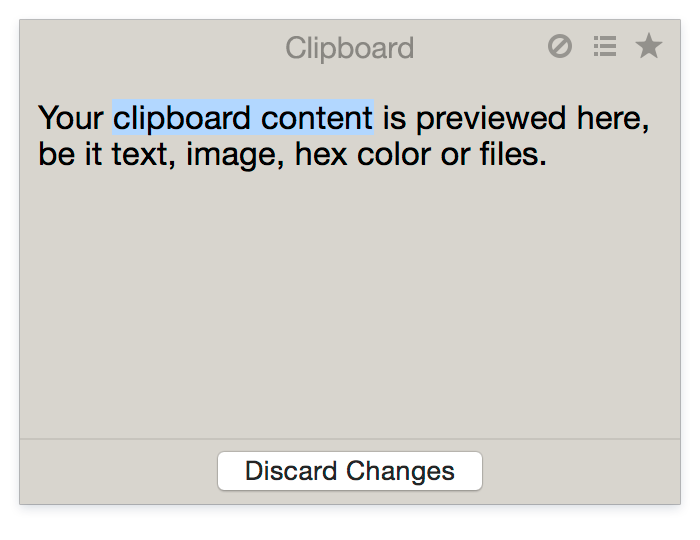 Your clipboard content on Mac
