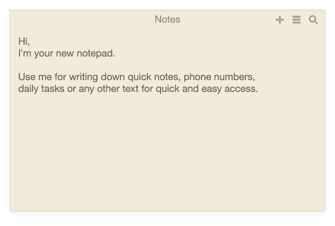 Unclutter Notes for Mac - quick note taking. Like sticky notes.