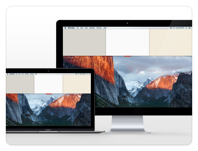 Unclutter is available on all Desktops, spaces and screens (monitors).