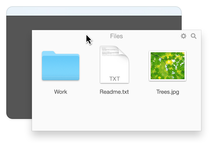 Unclutter - Drag panels out of Unclutter to reorder them or place on Desktop.