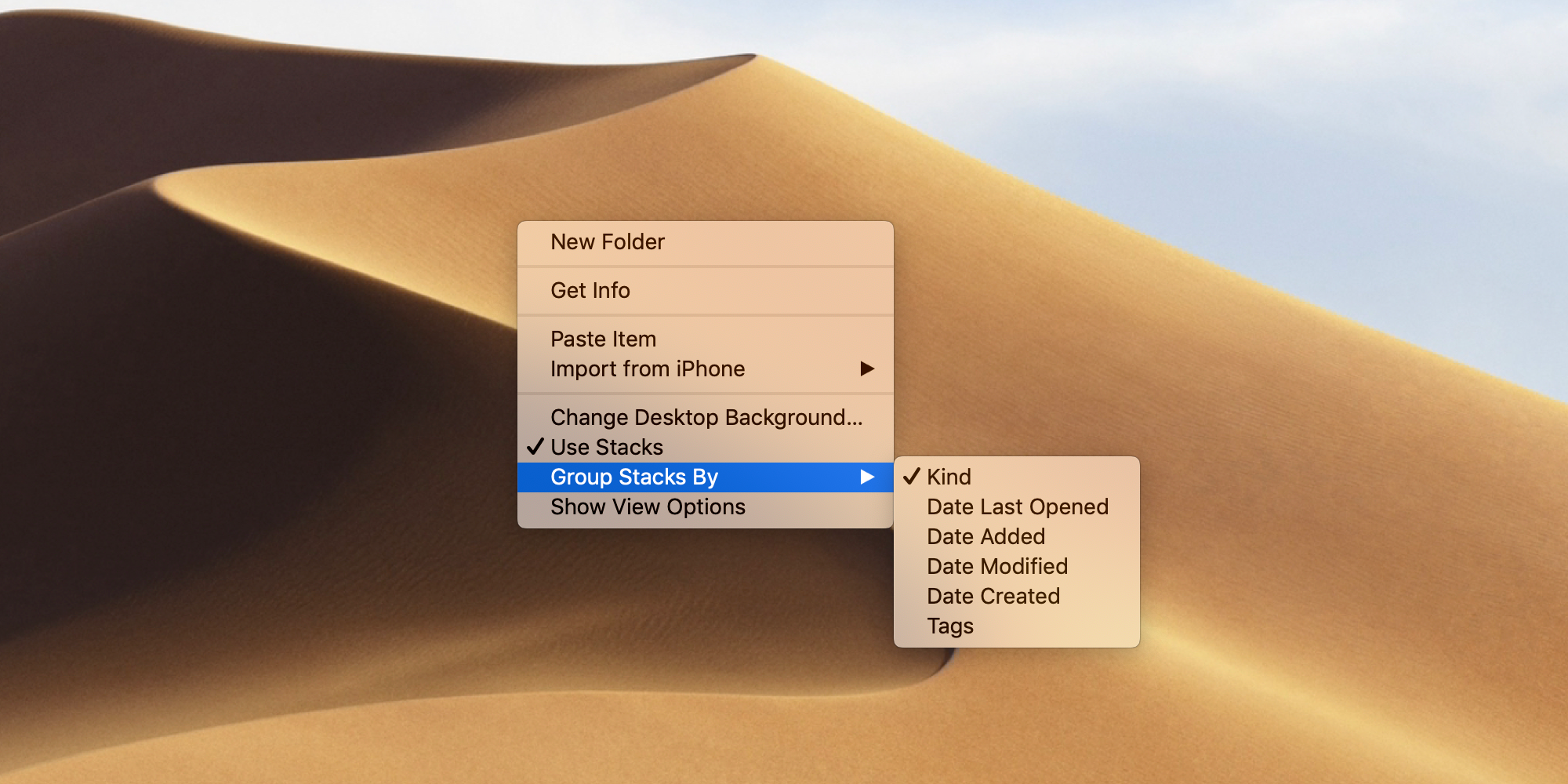 New MacOS Mojave Features - Stacks. To clean up the Desktop and keep it tidy.