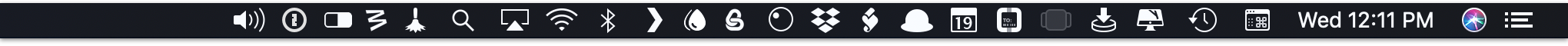 Manage menu bar icons and make your Mac Desktop look cool & tidy.