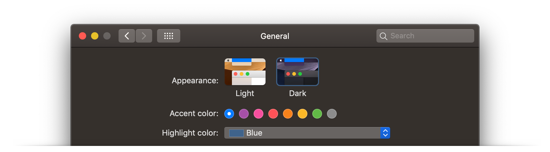 Refresh MacOS by changing appearance and colors