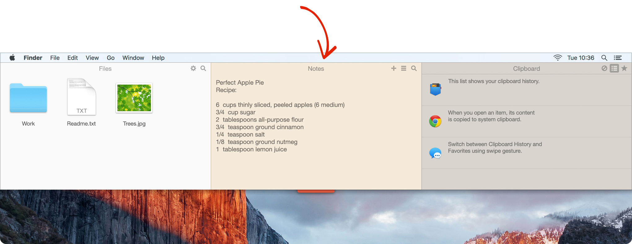 Unclutter Notes - jot down casual notes without launching a text editor (or any other app).