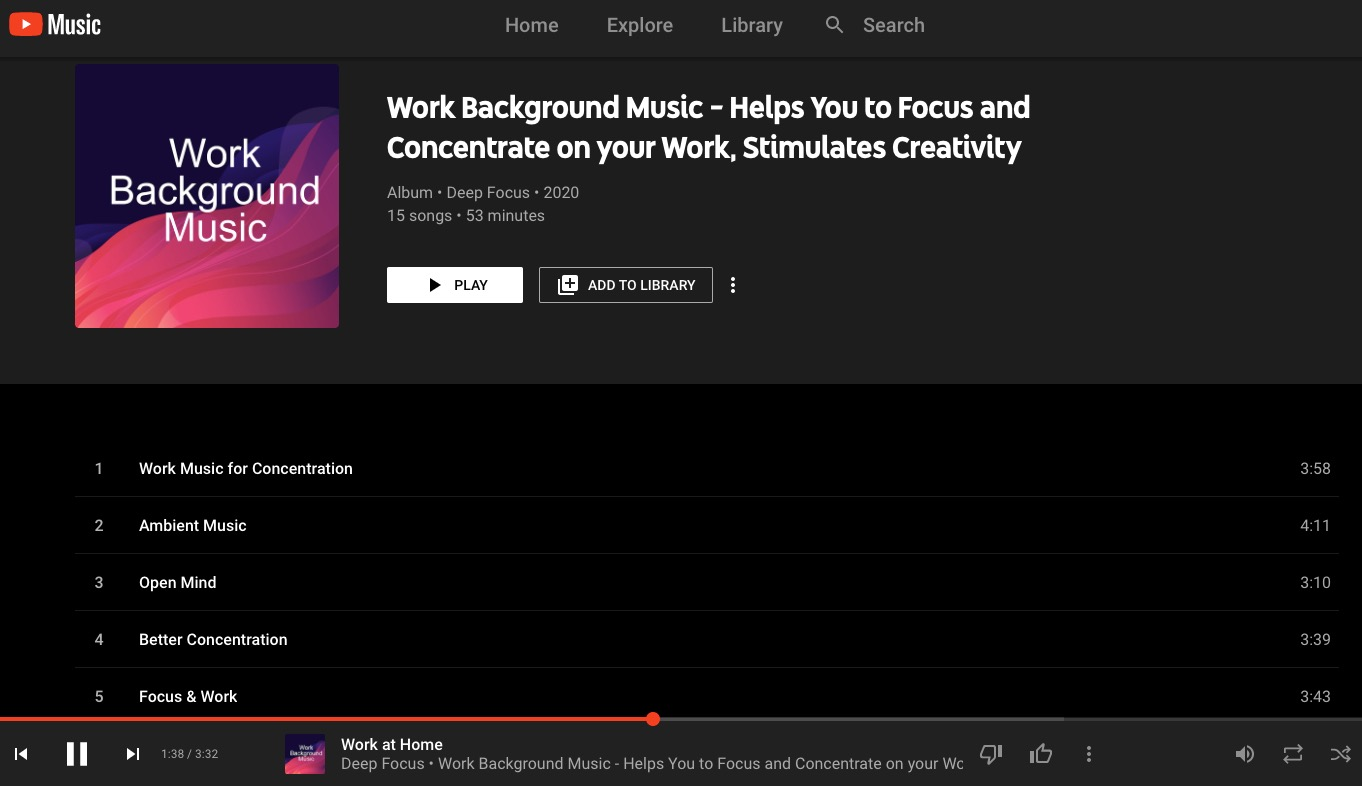 Music for your productive workday