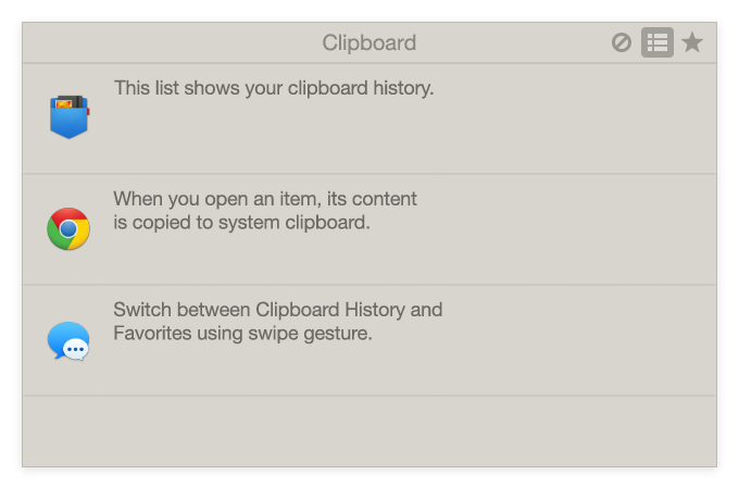 Unclutter Clipboard - Track what you copy and recall your recent clips in Clipboard History