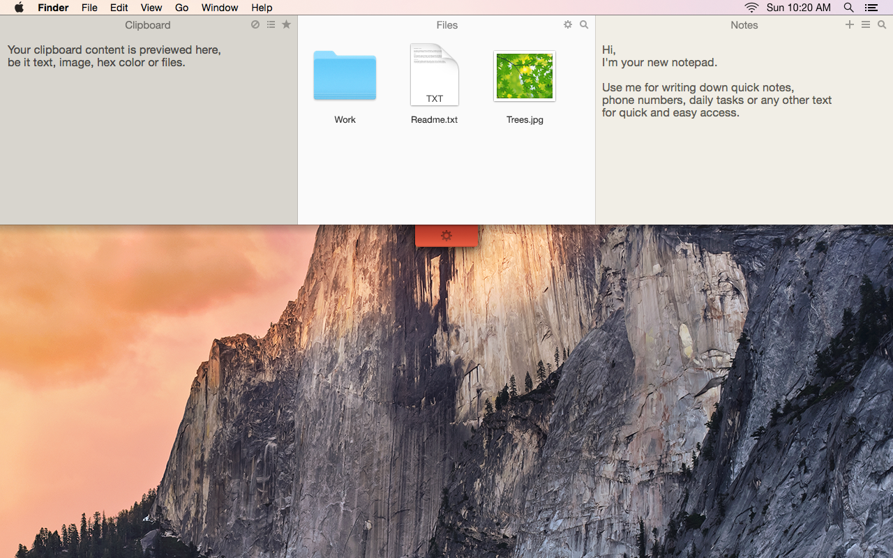 Unclutter 2 for Mac: Clipboard manager, File storage, Notes