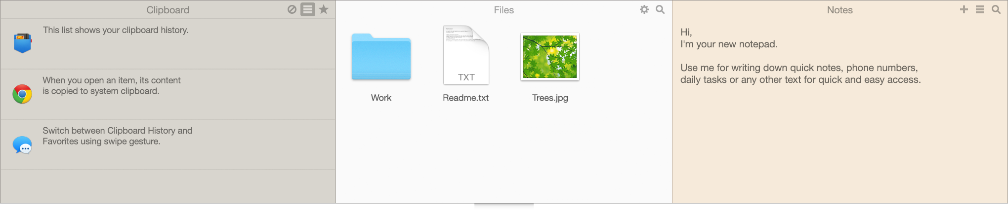 Unclutter - Files, Notes and Clipboard Manager for Mac